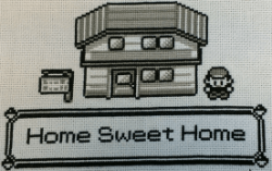 Pokemon Home Sweet Home Cross Stitch