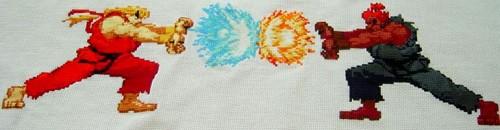 Street Fighter Cross Stitch