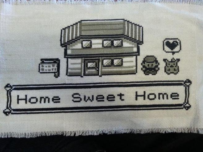 pokemon home sweet home cross stitch with pikachu